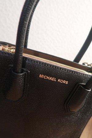Michael Kors Gekruiste tas zwart-zandig bruin Leer