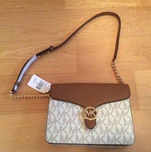 Michael Kors Handbag brown-white leather