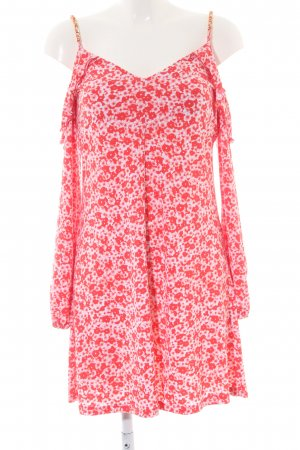 Michael Kors Cut Out Dress red-white flower pattern casual look