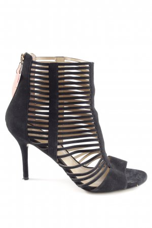 Michael Kors Cut Out Booties black striped pattern casual look