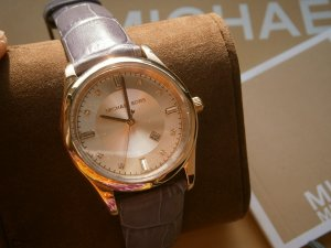 Michael Kors Damen-Armbanduhr Leder MK2550