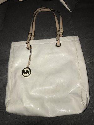 Michael Kors Damen Handtasche Schultertasche Weiß Gold
