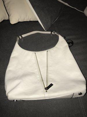 Michael Kors Damen Handtasche Weiß Silber Reißverschluss