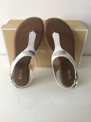 Michael Kors Toe-Post sandals white leather