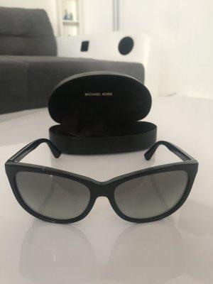 Michael Kors Ovale zonnebril zwart-zilver