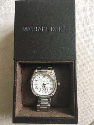 Michael Kors Orologio con cinturino di metallo argento-bianco