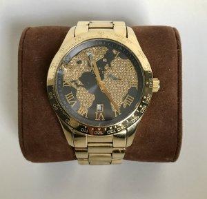 Michael Kors Orologio con cinturino di metallo oro-blu scuro
