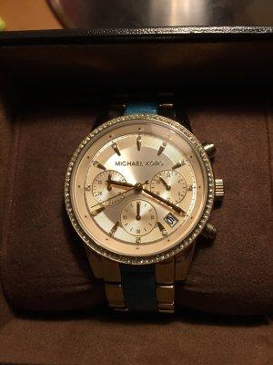 Michael Kors Horloge goud-turkoois