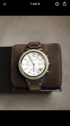 Michael Kors Orologio con cinturino di metallo oro-argento