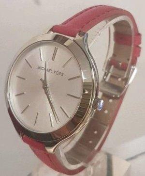 Michael Kors Damen Uhr Pink Silber