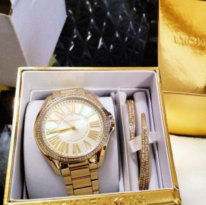 Michael Kors Damen Uhr Set gold MK3568