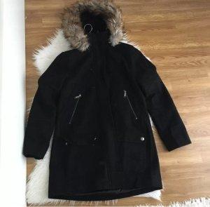 Michael Kors Wollen jas zwart-beige