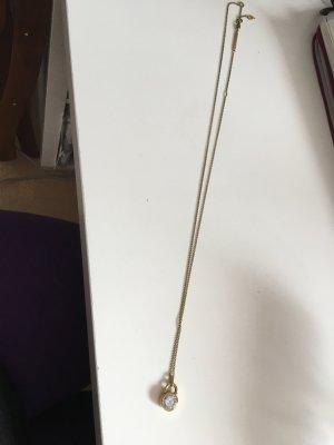 Michael Kors Damenkette Edelstahl gold mit Anhänger