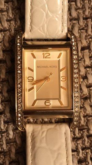 Michael Kors Horloge wit-goud