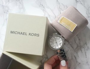 Michael Kors Watch With Metal Strap white stainless steel