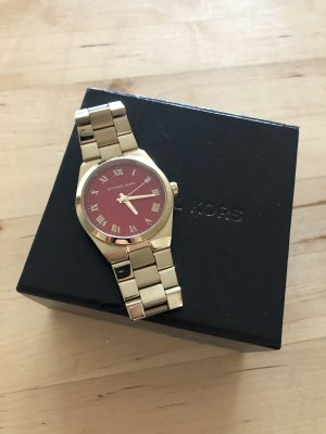 Michael Kors Horloge met metalen riempje goud-rood