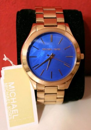 Michael Kors Watch gold-colored-blue stainless steel