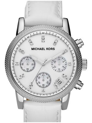 Michael Kors Analog Watch white leather