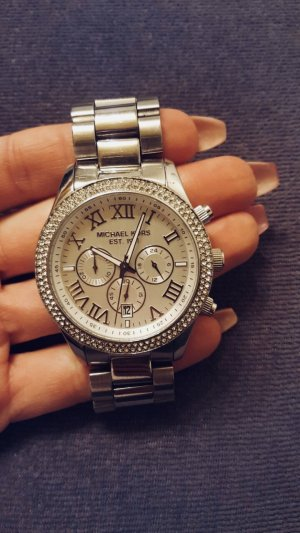 Michael Kors Watch With Metal Strap silver-colored-white