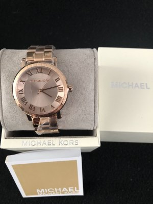 Michael Kors Watch With Metal Strap rose-gold-coloured stainless steel