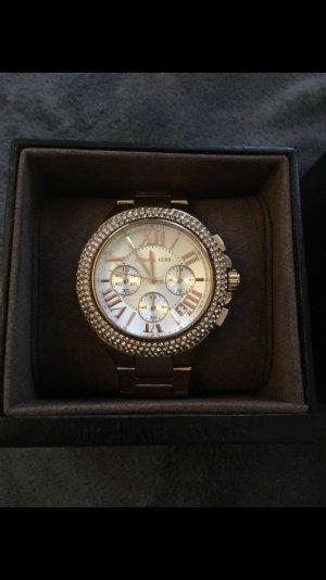 Michael Kors Horloge met metalen riempje roségoud-goud