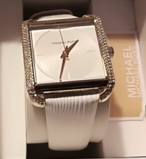 Michael Kors Montre analogue blanc bronze