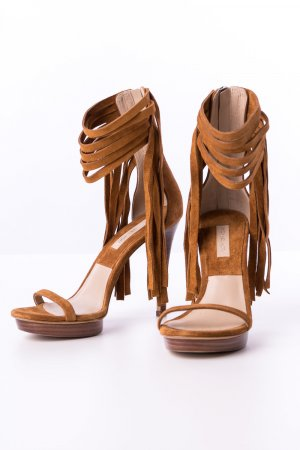 Michael Kors Strapped High-Heeled Sandals cognac-coloured leather