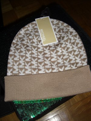 Michael Kors Knitted Hat white-sand brown