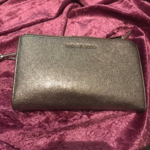 Michael Kors, Double Zippered Wristlet LT Pewter