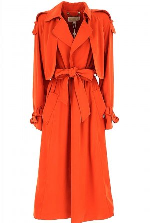 Michael Kors Drapey Trench Coat, Gr. L