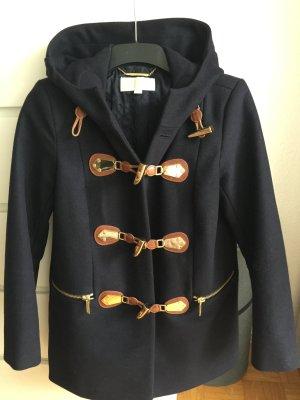 Michael Kors Duffel Coat dark blue wool