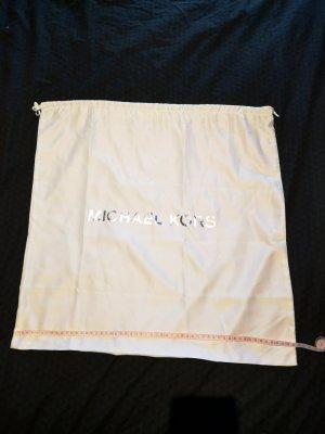 Michael Kors Bolso de tela blanco-color plata