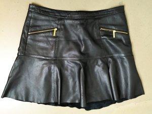 * MICHAEL KORS *   ECHT LEDER ROCK Mini schwarz GOLD Gr 6 / 36  ( 38 ) S