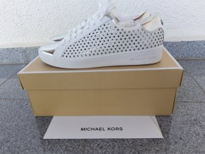Michael Kors Basket blanc-argenté