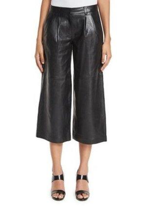 Michael Kors Pantalon en cuir noir