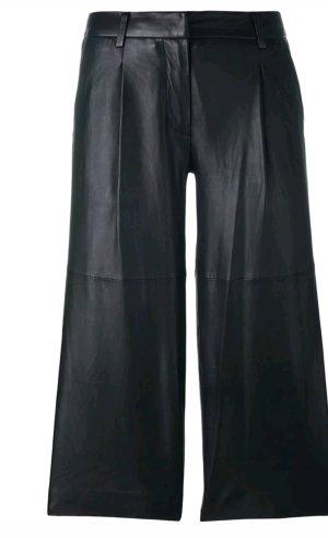Michael Kors Leren broek zwart Leer