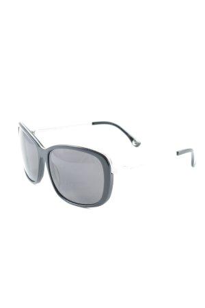 Michael Kors Hoekige zonnebril zwart-zilver elegant