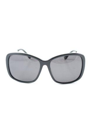 Michael Kors eckige Sonnenbrille schwarz-silberfarben Elegant