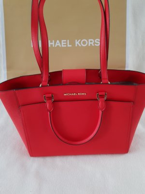 Michael Kors Carry Bag neon red leather