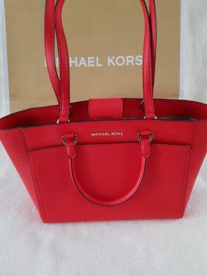 Michael Kors Borsa con manico rosso neon Pelle