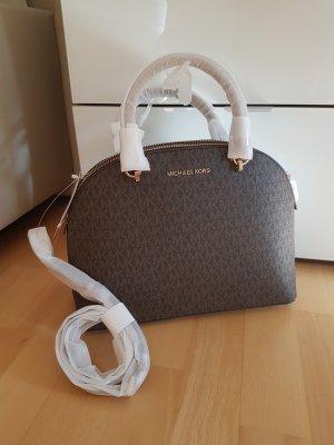 Michael Kors Emmy LG Braun Gold Handtasche Tasche Neu