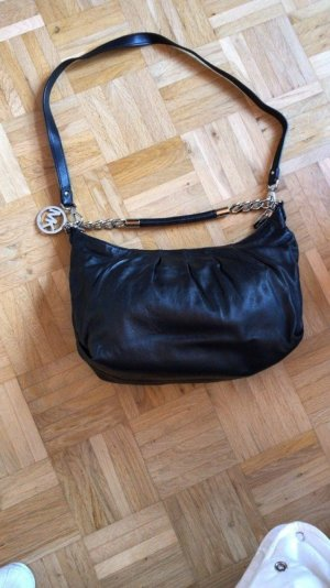 Michael Kors Carry Bag black-silver-colored leather