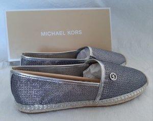 Michael Kors Espadrille Sandals silver-colored-light grey