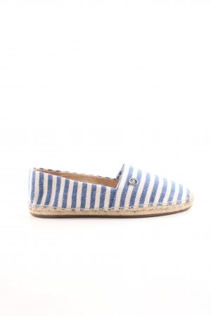 Michael Kors Espadrille Sandals blue-white striped pattern casual look