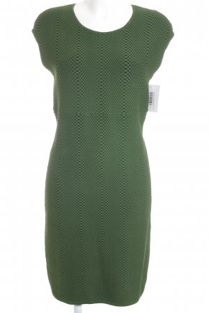 Michael Kors Sheath Dress forest green-black herringbone pattern business style