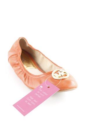 Michael Kors faltbare Ballerinas dunkelorange Romantik-Look