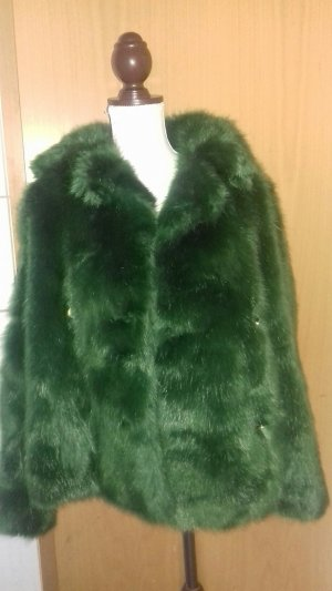 Michael Kors Fake Fur Jacket forest green fake fur