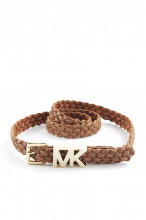 Michael Kors Braided Belt gold-colored-brown casual look