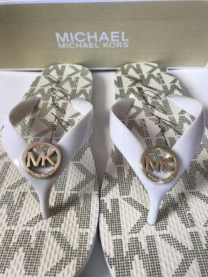 Michael Kors Flip flop sandalen licht beige