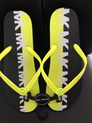 Michael Kors Flip-Flop Sandals neon yellow-black